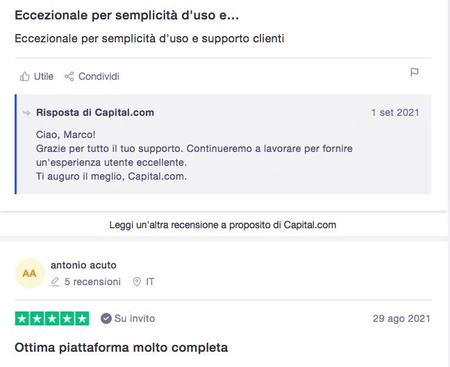 capital.com: opinioni utenti trustpilot
