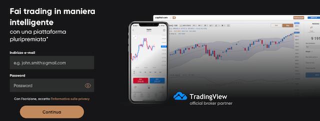 tradingview e capital.com che rapporto c'è
